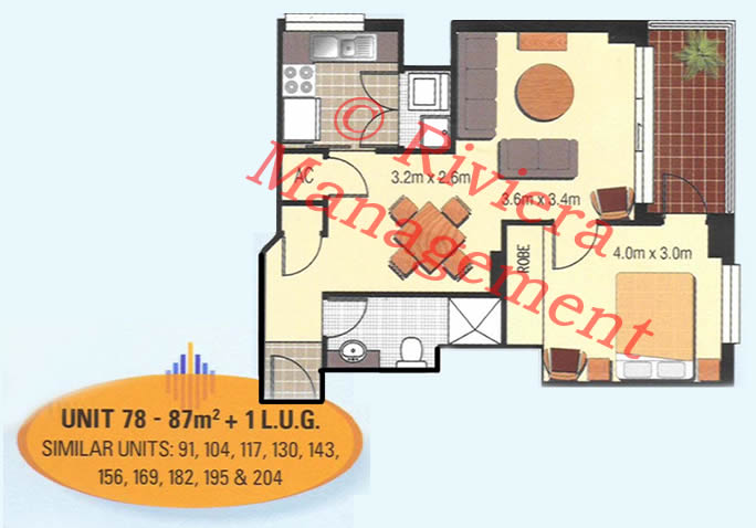exapmle 1 bedroom layout