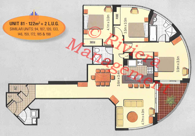 exapmle 3 bedroom layout